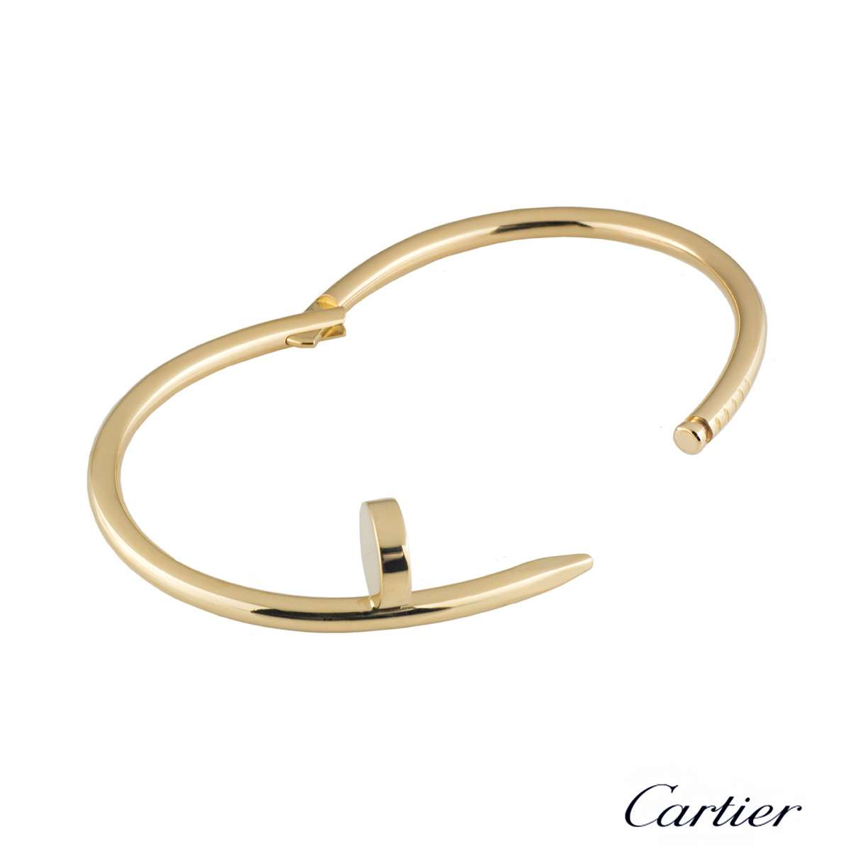 gold white un clou square en cartier juste in collector bracelet jewels